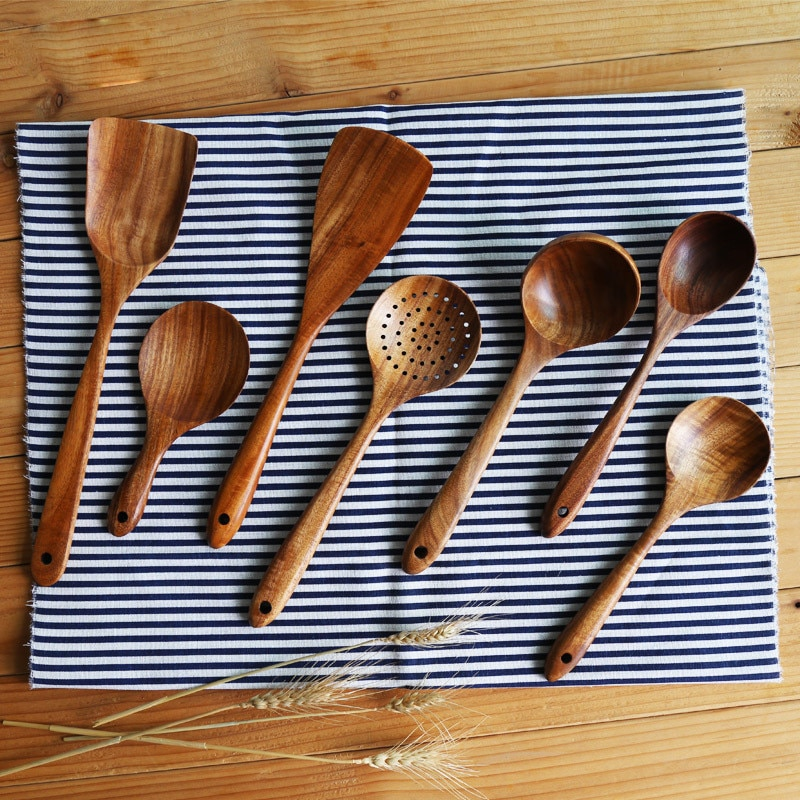 Natural Thailand Teak Wood Kitchen Tools